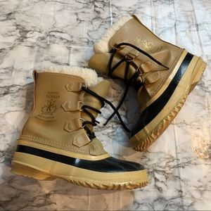 SOREL Winter Boots Logo Side Cream Insulated shoes